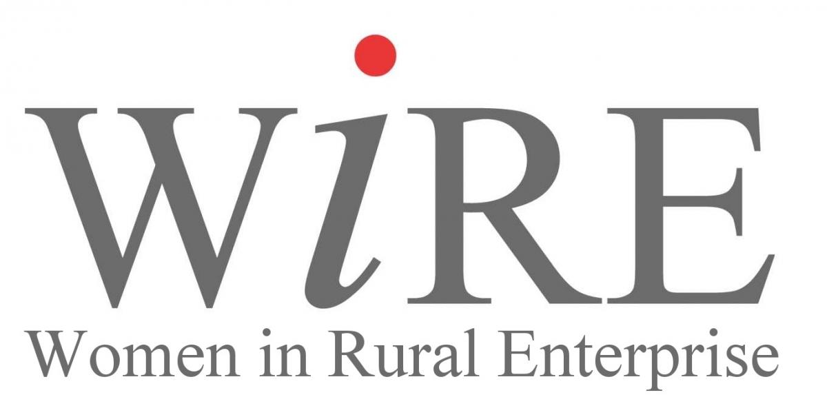 MRE, WiRE logo, Women in Rural Enterprise logo
